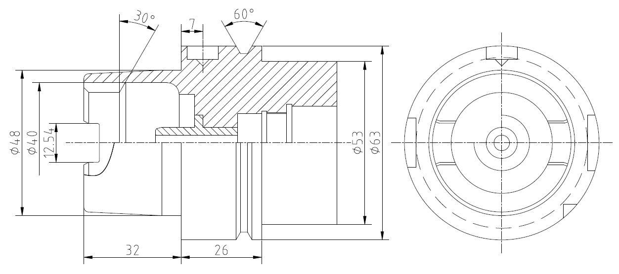HSK-A63刀柄簡圖