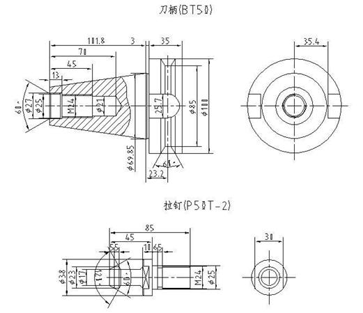 拉钉:P50T-2(α=60°)