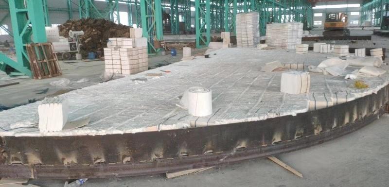 沃福德大型井式炉施工现场