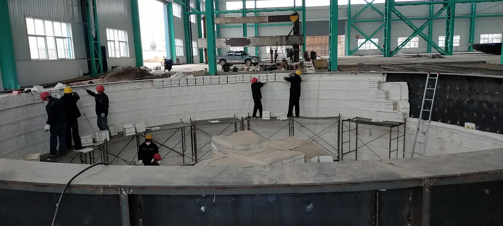 原来大型井式炉是这样施工的!
