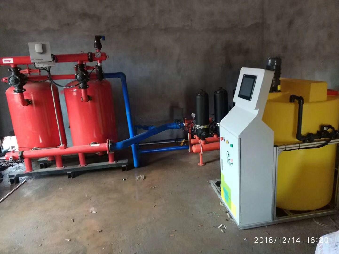 灌溉系统首部安装图