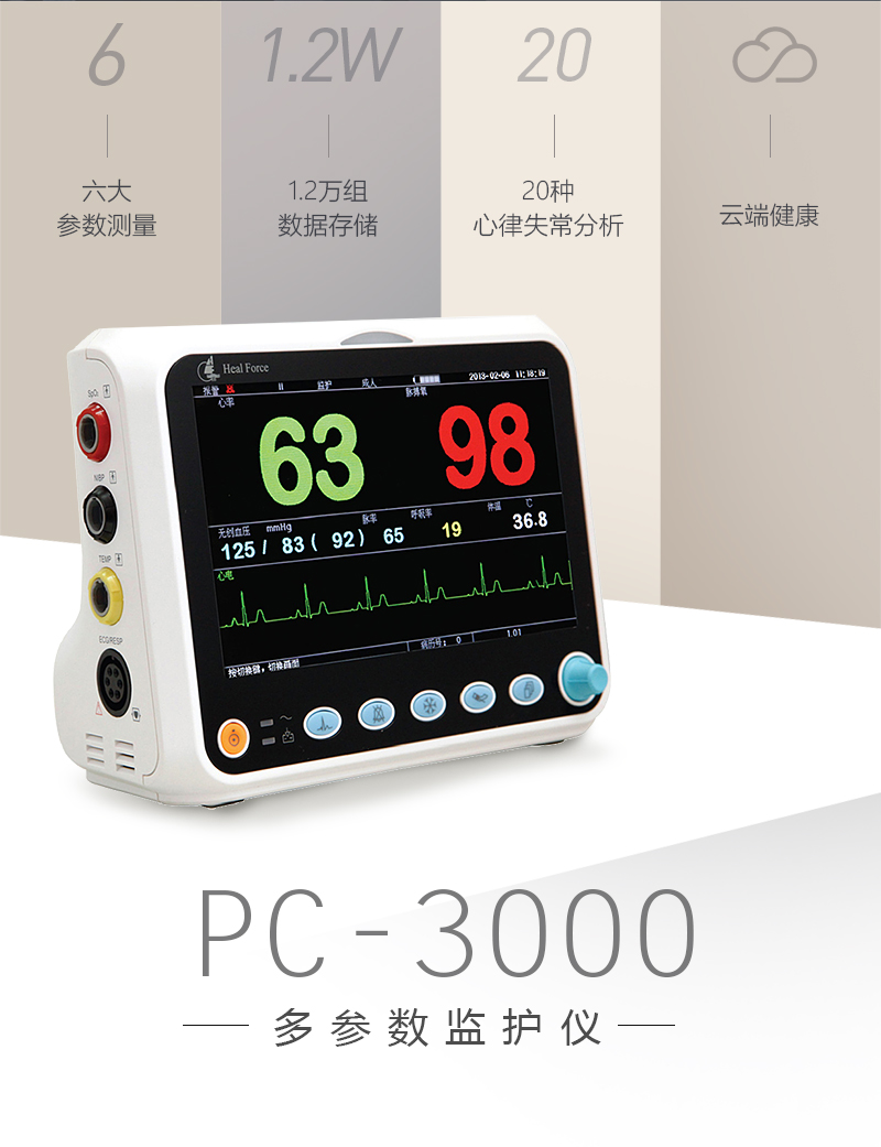 PC-3000物联网多参数监护仪物联网医疗一体机1