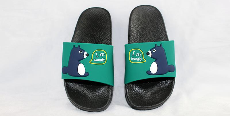 东莞PVC一字拖鞋可印精美LOGO