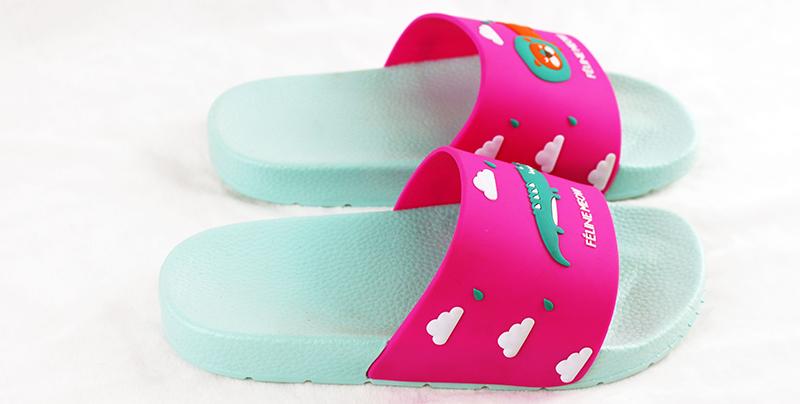 PVC一字拖鞋平跟底,防滑