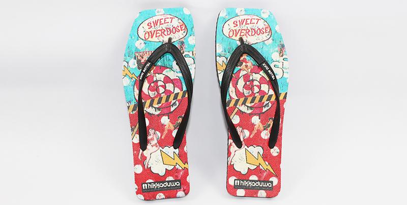 船型橡胶底沙滩拖鞋 时尚休闲拖鞋