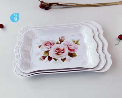 Sculpted  carving  flowers tray---2760/2761/2762
