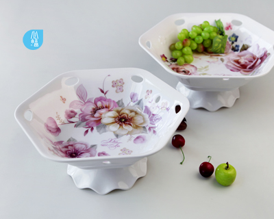 Hexahedral flower bearing fruit plate--2204/2205