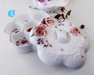 Six disc  flower shape fruit tray--2351