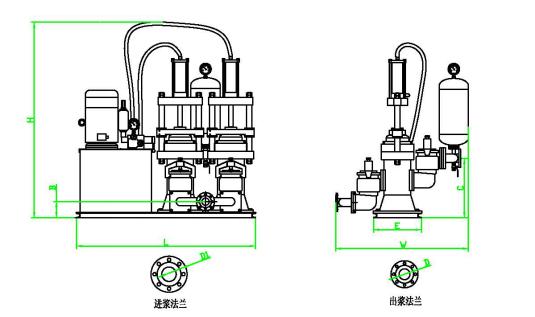 柱塞泵外形尺寸图