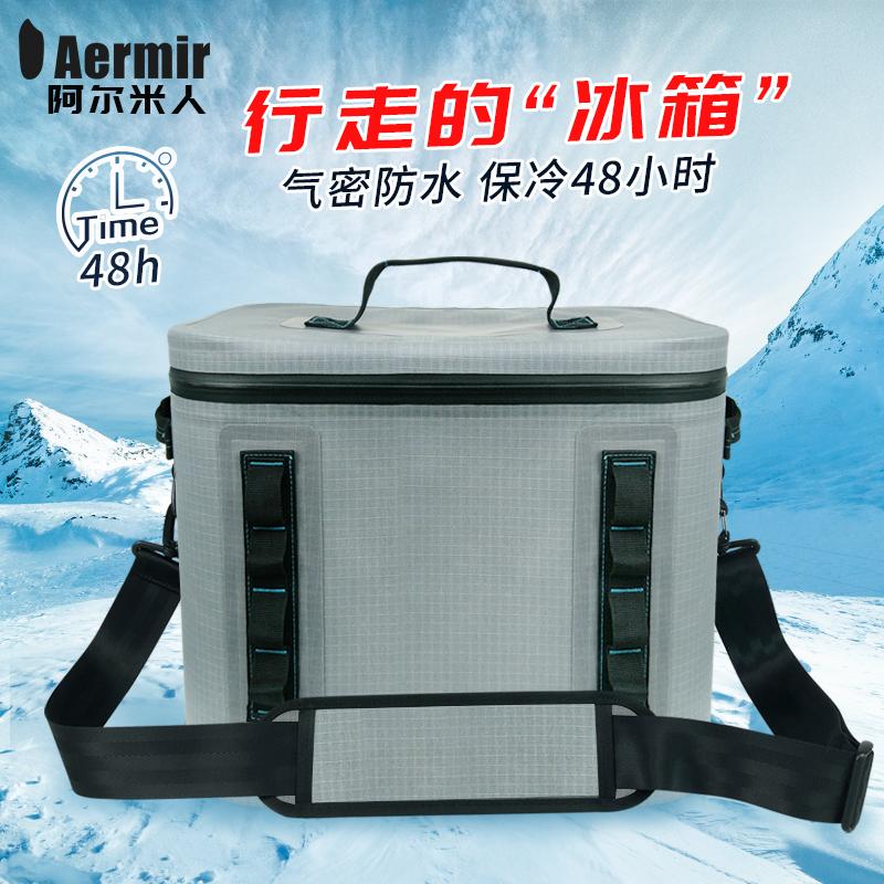 浅灰格子保温箱保温包