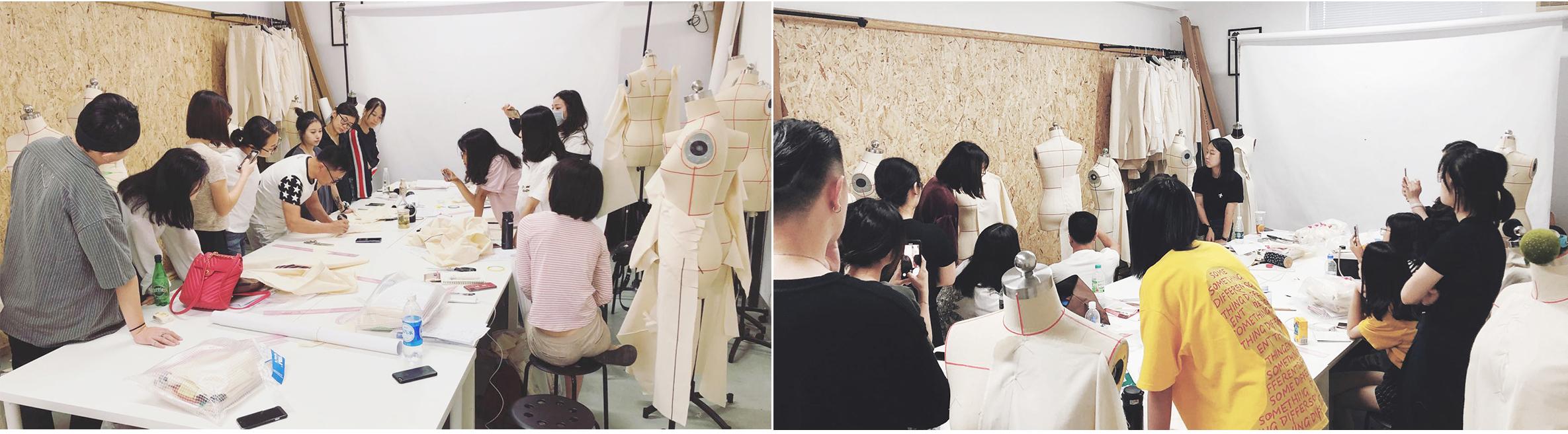 服装立体裁剪与创意女装课程,立体裁剪,课程氛围