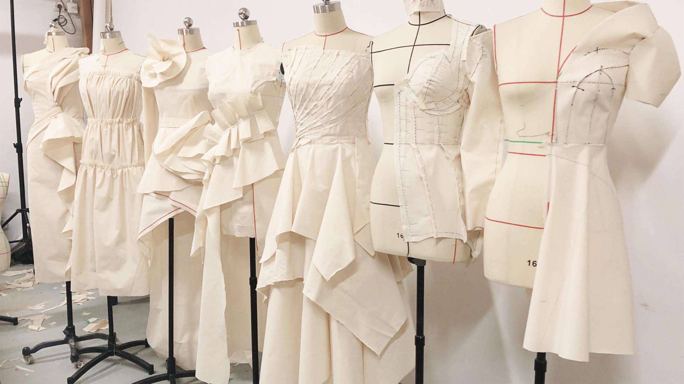 服装立体裁剪与创意女装课程,立体裁剪,学生作业