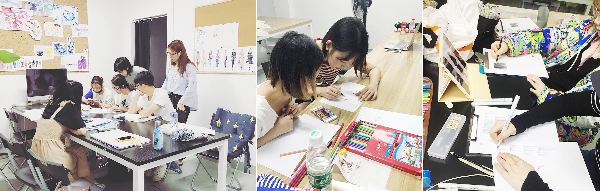 服装手绘效果图、课程氛围