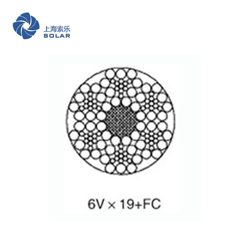 鋼絲繩6Vx19+FC