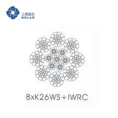 涂塑金屬芯鋼絲繩8×K26WS +IWR