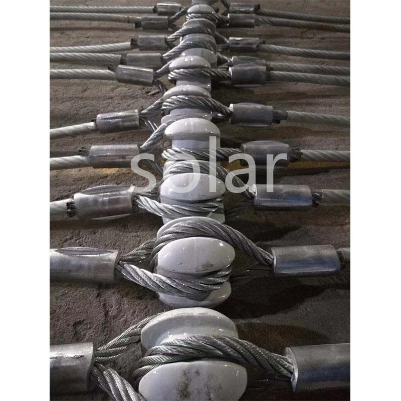 鋼絲繩壓制絕緣瓷瓶