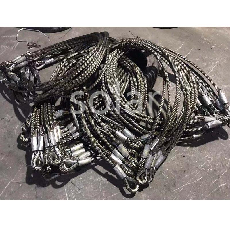 鋼絲繩雞心環壓制