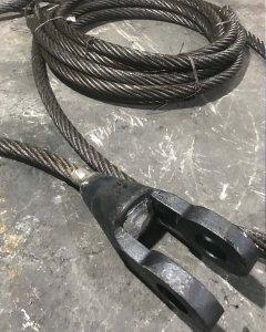Dia 84mm鋼絲繩澆鑄開式索節閉式索節