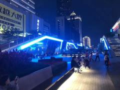深圳華強北地鐵口亮化項目