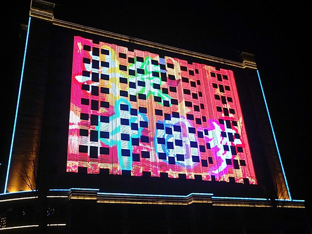 新疆五家渠得乐大厦楼体亮化项目
