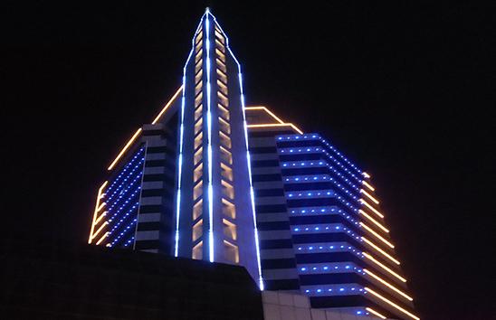 潮汕中国银行楼体亮化项目