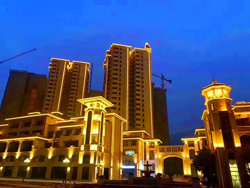 广西陆川盛邦国际楼体亮化项目