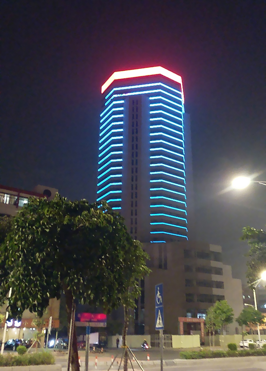 廣東汕頭和兼大廈夜景亮化項目