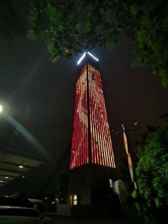 杭州西奧電梯樓體亮化項目