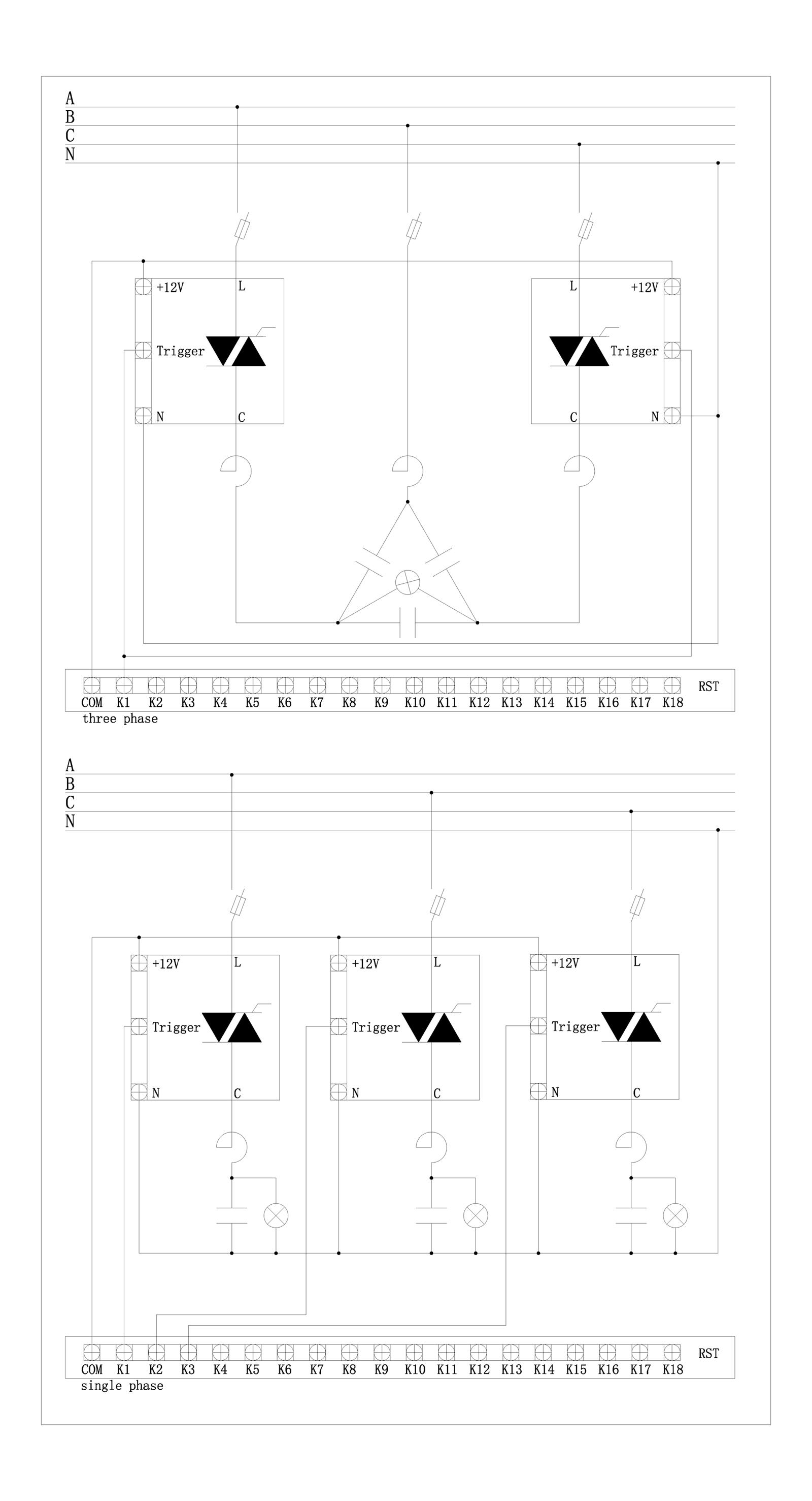 单相晶闸管接线图