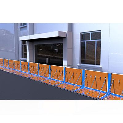 L型可折叠防汛墙