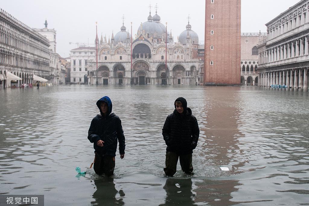 意大利威尼斯遭連日暴雨侵襲 已致2人死亡