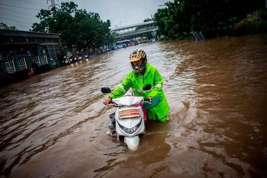 暴雨引发印尼洪水泛滥 首都雅加达16人死亡两万人无家可归
