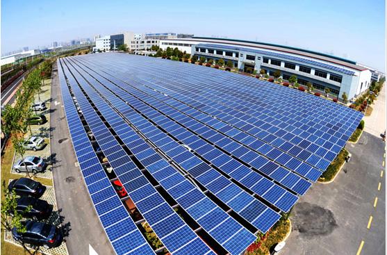 汽车停车场太阳能发电站