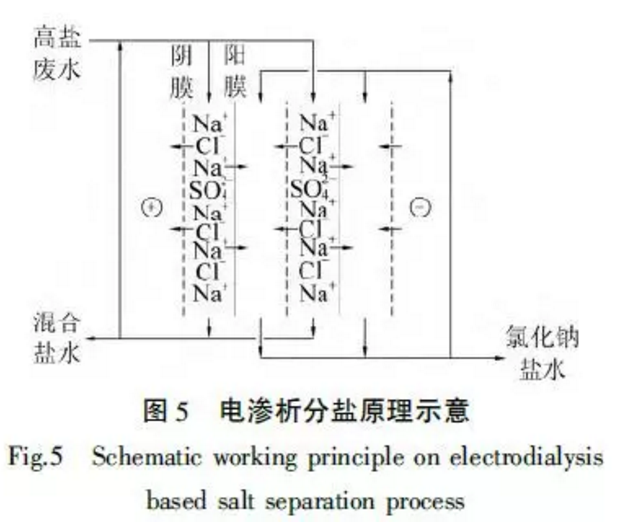 电渗析分盐原理