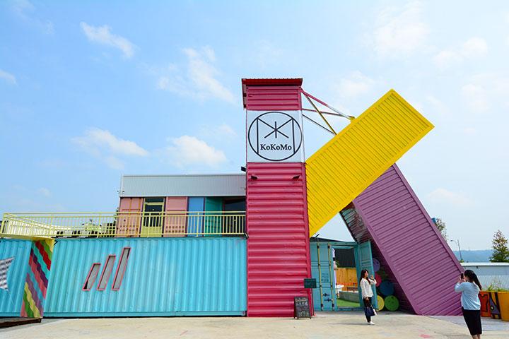 艺术与集装箱 | 马卡龙色系集装箱网红打卡圣地—KOKOMO私房惑柜_上海集装客