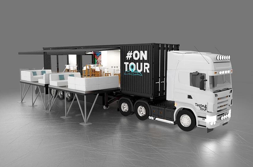 卡车40尺可移动集装箱展厅 |可移动快闪店