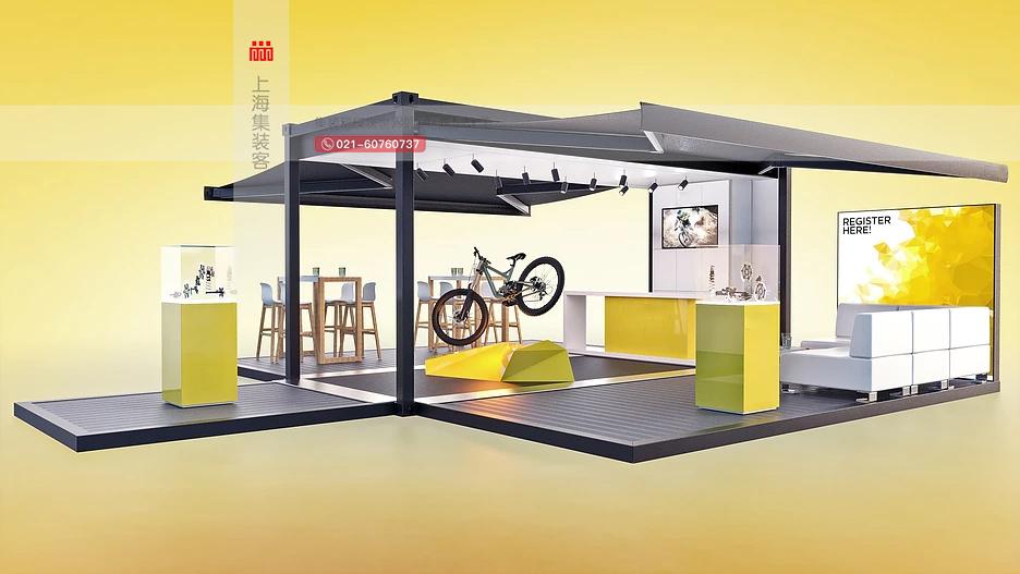 捷安特山地车集装箱移动展厅