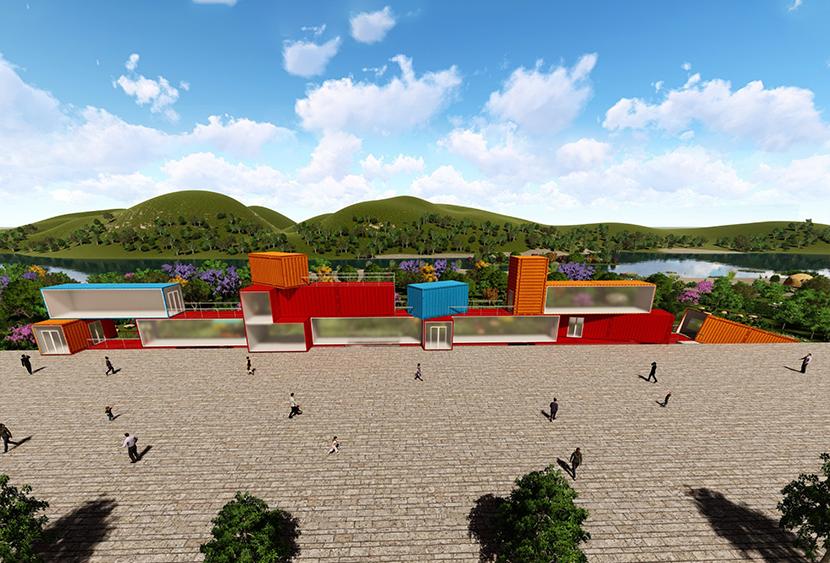景区公园集装箱创意艺术广场 I 集装箱创意主题商业街
