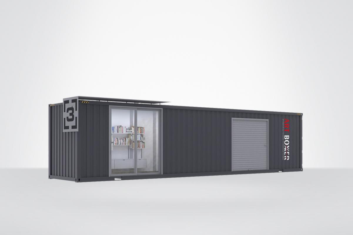 2020集装箱式办公室创意设计方案(三),工业风十足