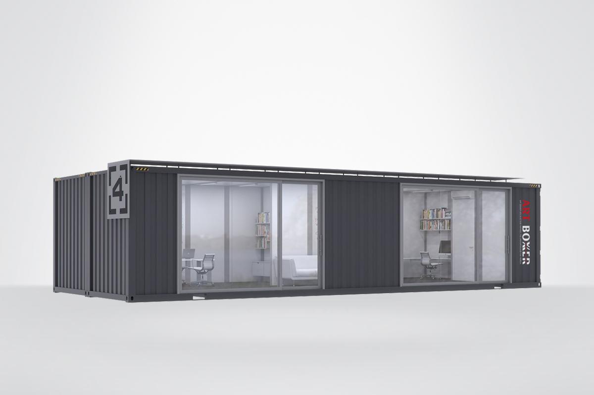 2020集装箱式办公室创意设计方案(四),工业风十足
