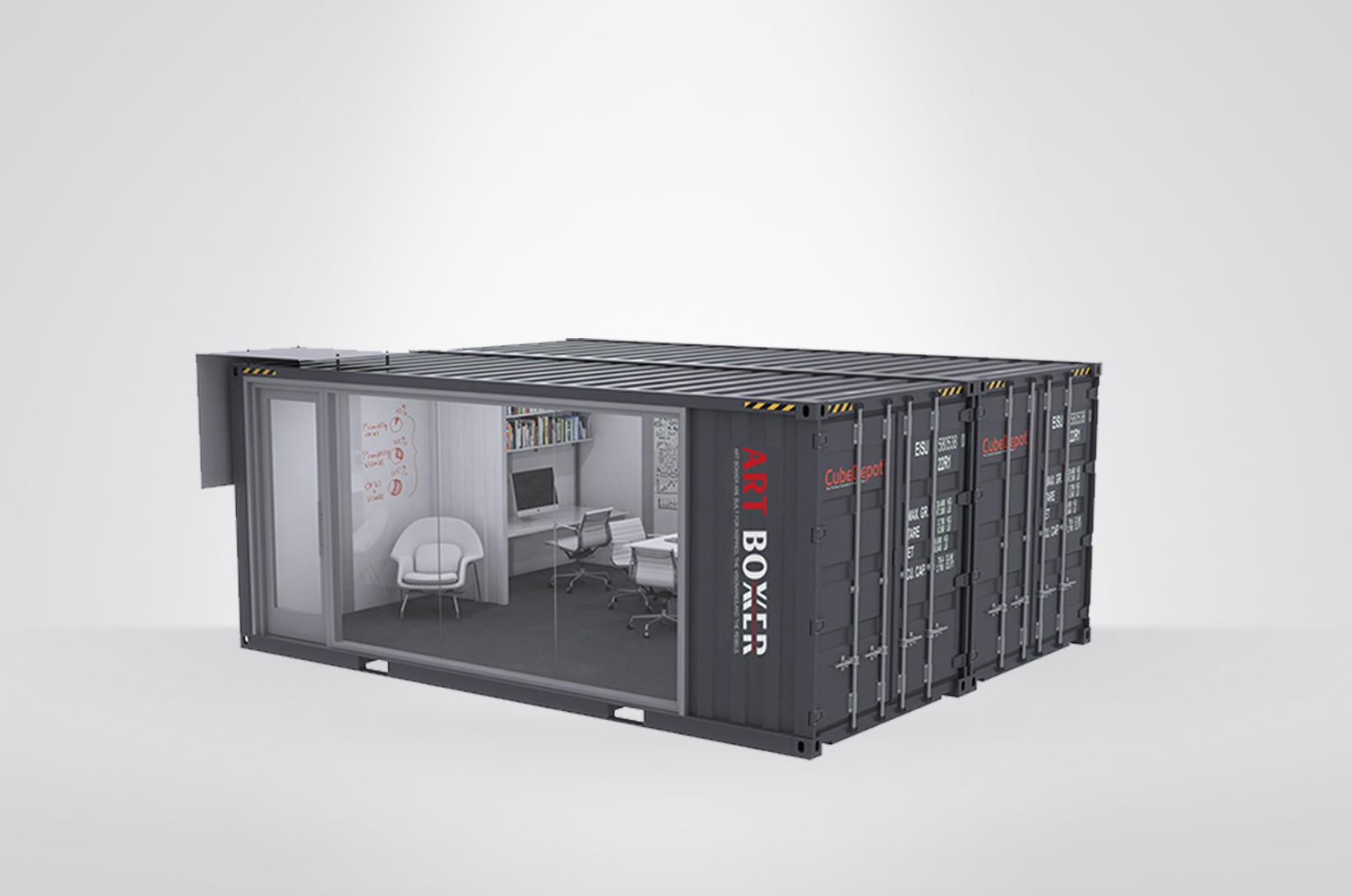 2020集装箱式办公室创意设计方案(二),工业风十足