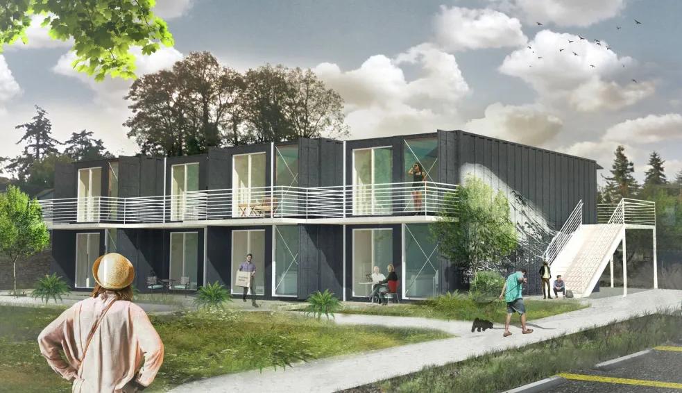 集装箱住宅 | 30天建成未来社区,一个由集装箱建造的公寓综合体_上海集装客