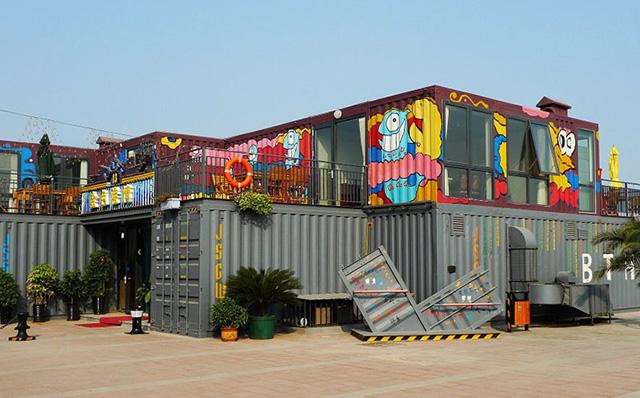 国内一家集装箱海鲜街北塘集装箱海鲜街商铺即将拆除,成为历史