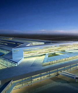 上海虹桥机场交通枢纽.