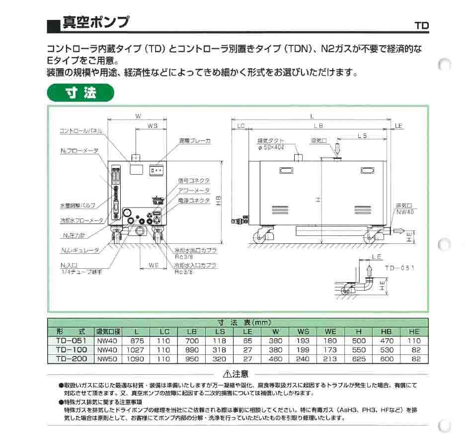 Taiko大晃真空泵TD-200尺寸图