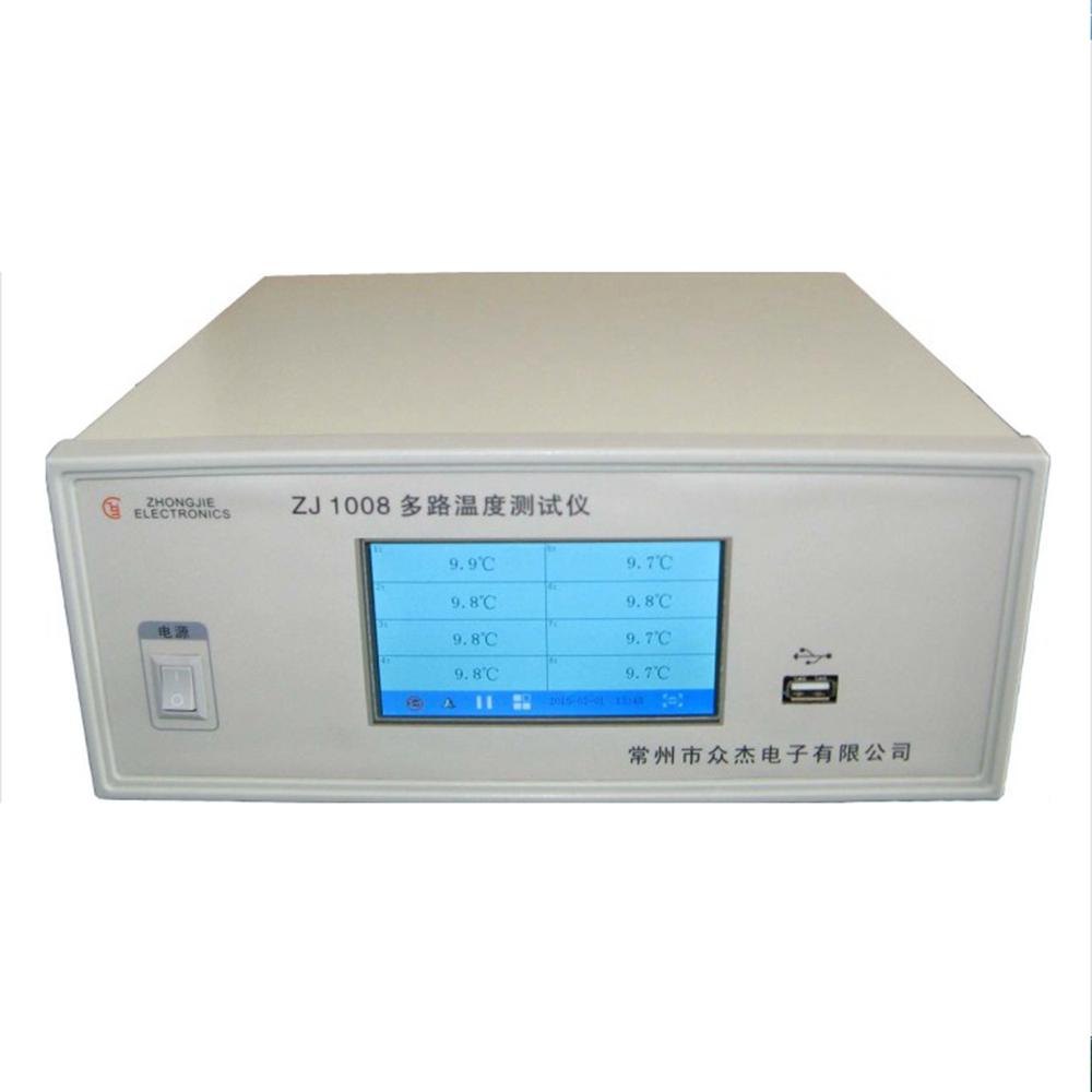 众杰ZJ1008多路温度测试仪 8路全屏
