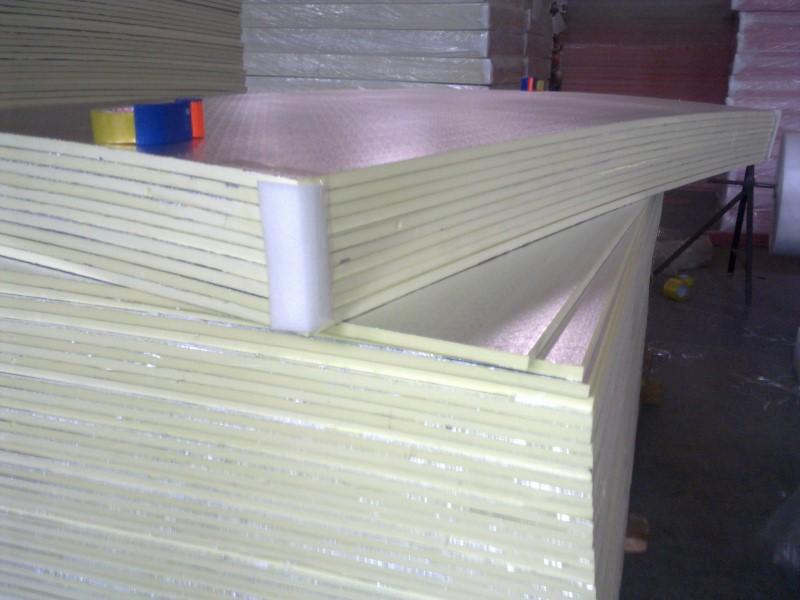 双面铝箔挤塑风管板(黄色)
