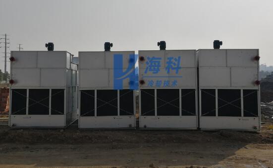 广西百矿集团中频炉闭式冷却塔抵达现场