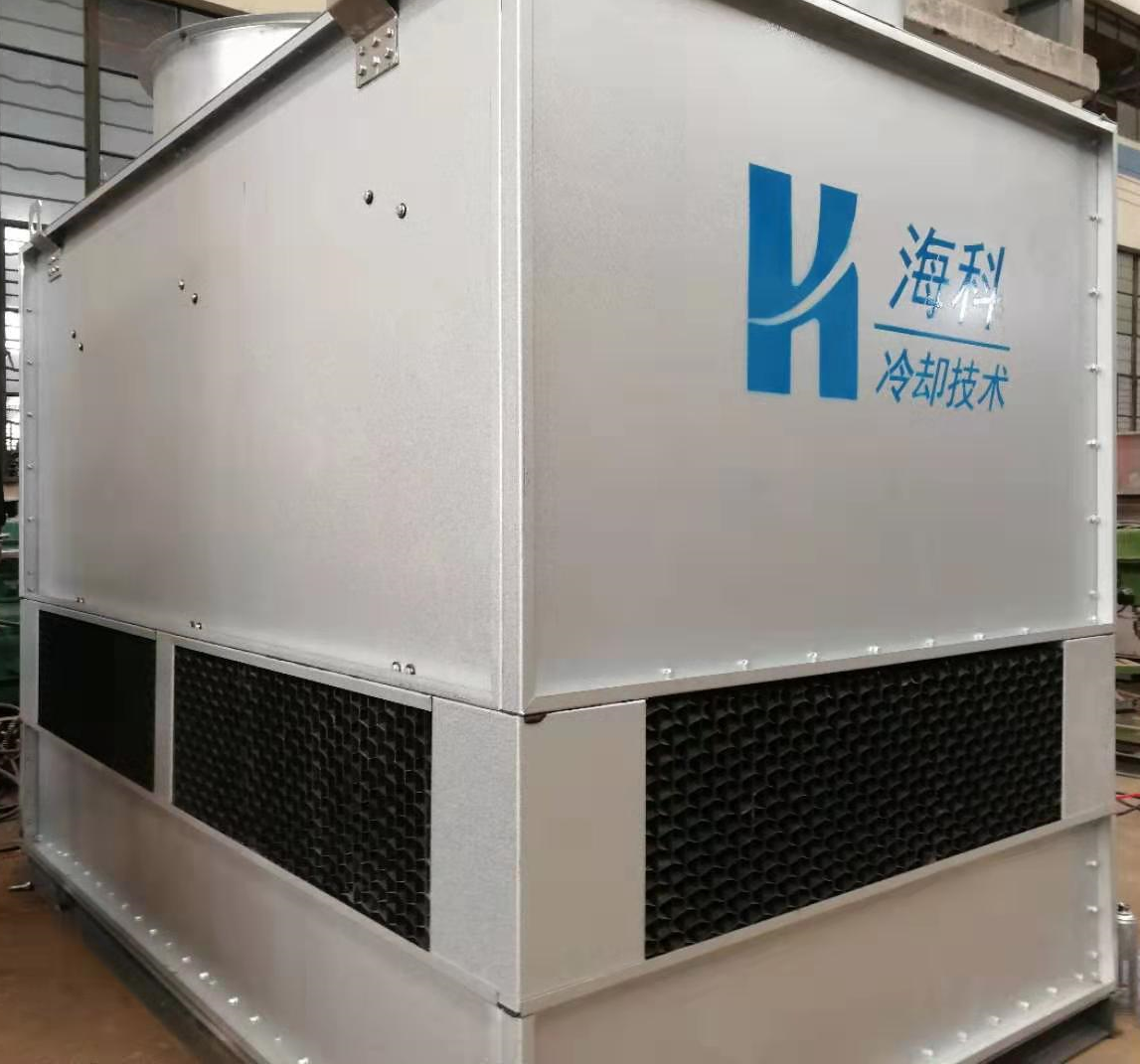 出口中东配套空压机逆流闭式冷却塔顺利交付