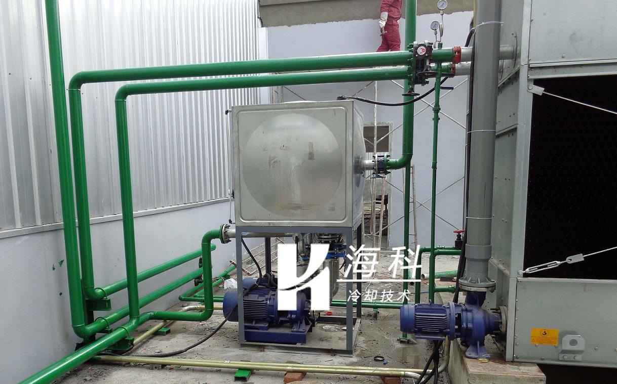 实验温箱闭式冷却塔提前完成安装工作-无锡新濠天地冷却技术有限公司